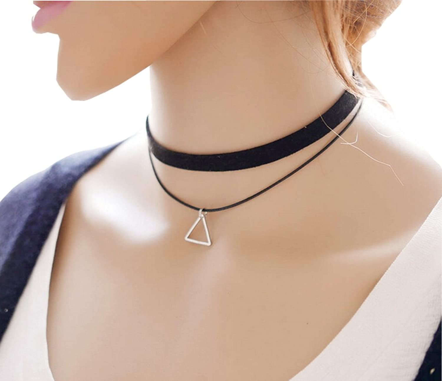 jewelry paragraph adjustable torques women lobster solid necklace wide ribbon item neck band from cm flannelette accessories clasp black choker short in on