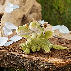 Top Collection Miniature Fairy Garden And Terrarium Mini Dragons Hugging Figurine
