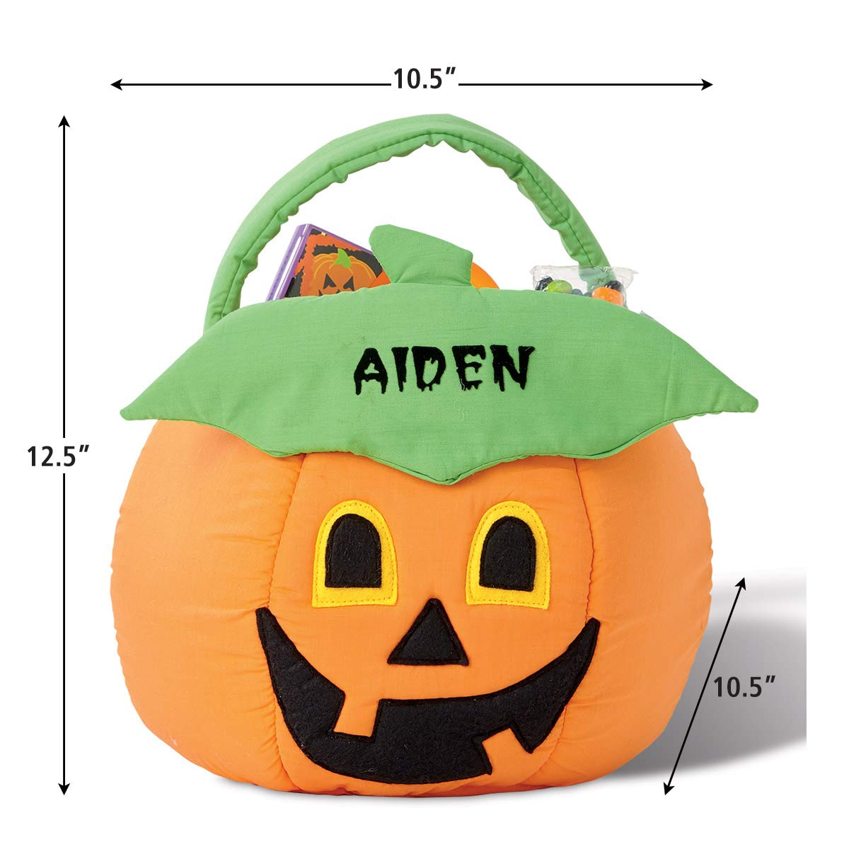 Wondrous Lillian Vernon Pumpkin Personalized Halloween Treat Bag Caraccident5 Cool Chair Designs And Ideas Caraccident5Info