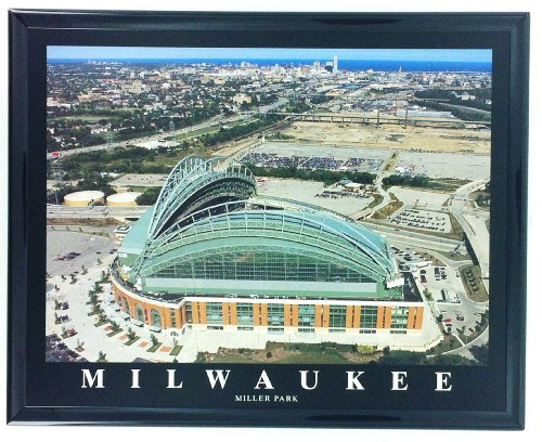 Milwaukee Brewers Baseball Framed Aerial Photo ()