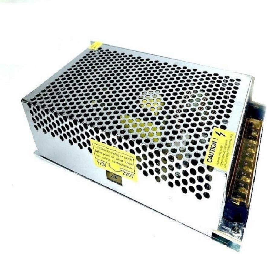 Fuente de alimentación estabilizada de 12 V y 20 amperios, conmutador, transformador de alta calidad, excelente para iluminación LED y videovigilancia B1 [Clase de eficiencia energética A]