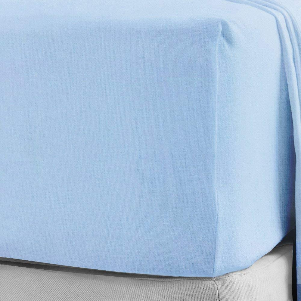 White Double Sleep/&Snuggle 100/% Brushed Cotton Thermal Flannelette Flat Sheet