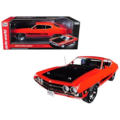 Autoworld AMM1112 1970 Ford Torino Cobra Twister Calypso Coral Limited Edition to 1002pc 1/18 Diecast Model Car: Toys & Games