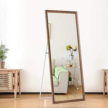 Specchio Da Parete Per Specchio Lungo In Piedi In Legno Massello Specchi Da Terra L0614 Size 50 150cm Amazon It Casa E Cucina