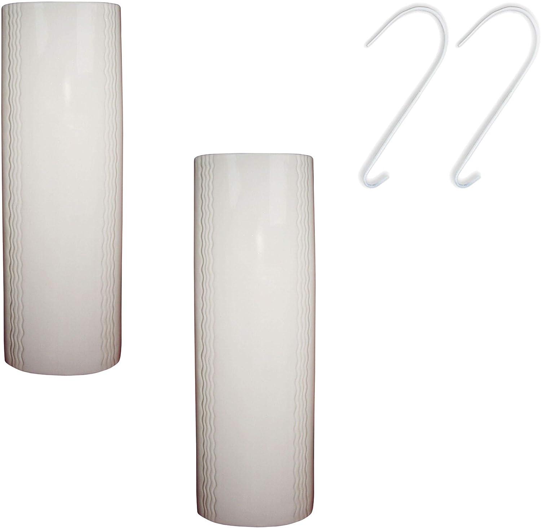 Metrox Set da 2 umidificatori in ceramica dallo stile neutro e semplice di colore bianco per il fissaggio al termosifone a667 750 ml