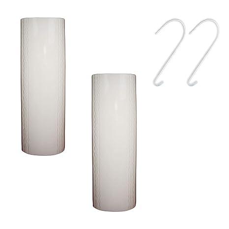 Luftbefeuchter 4-teiliges Set aus Keramik neutral schlicht wei/ß zur Befestigung am Heizk/örper Heizung Wasserverdunster Diffuser