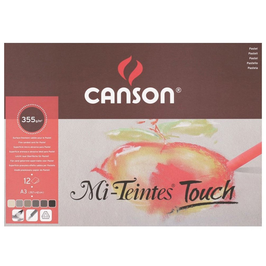 Star School Supplies 200005425 Canson - Mi-Teintes Touch Pad - A3-12 sheets