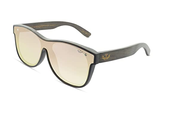 Gafas de sol madera MOSCA NEGRA modelo T-ZONE Pink - Plane ...