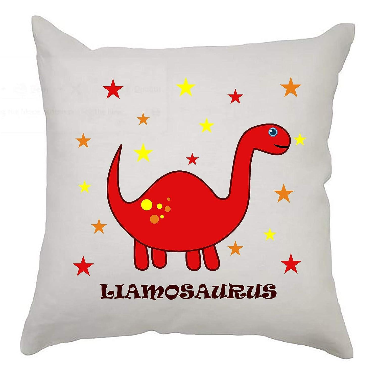 Blue Cute Personalised Dinosaur Cushion Cover 40cm x 40cm Kids Birthday//Newborn gift//Nursery Decoration