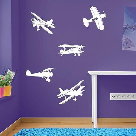 Avión Avión Avión Set decoraciones de pared pegatinas de ventana decoración de la pared pegatinas de