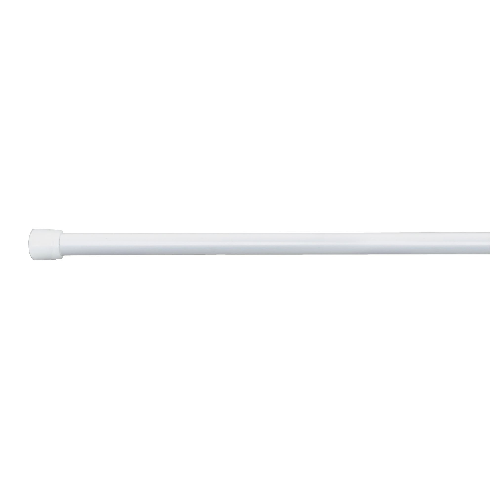 InterDesign Cameo Expandable Stainless Steel Constant Tension Bathroom Shower Curtain Rod, Large, 50''- 87'' Width – Pack of 2, White