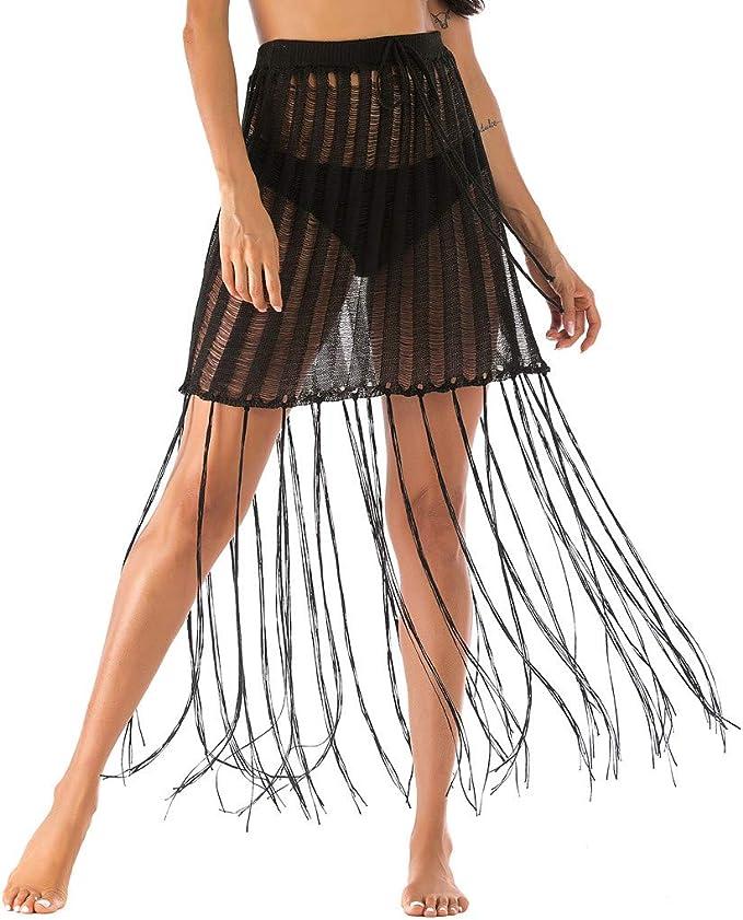 TUDUZ Mujer Faldas Cortas Verano Enaguas Sexy Negra Falda De La ...