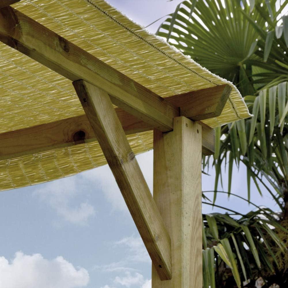 Verdelook - Cenador de pérgola de madera sin cubierta, 3 x 3 m, para decoración de exteriores y jardín