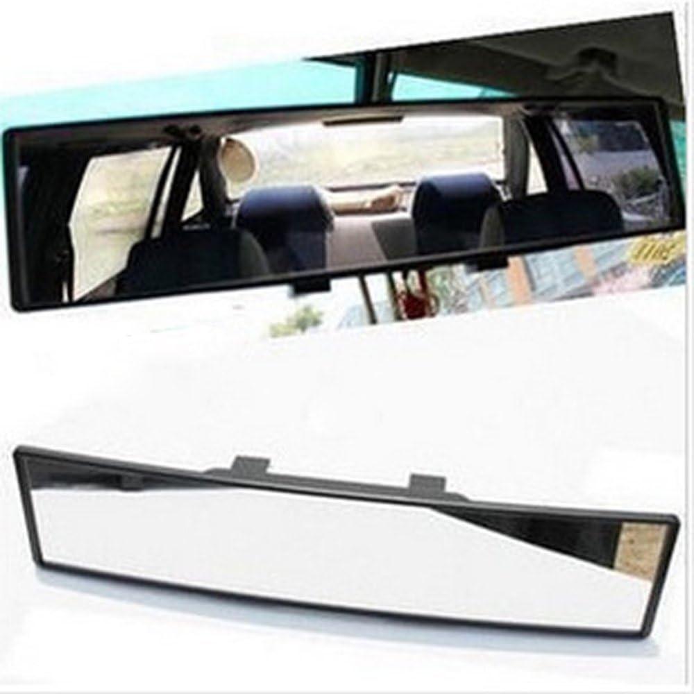 "Universal 12/"" Wide Convex Car Truck Interior Clip-on Rear View White Tint Mirror"