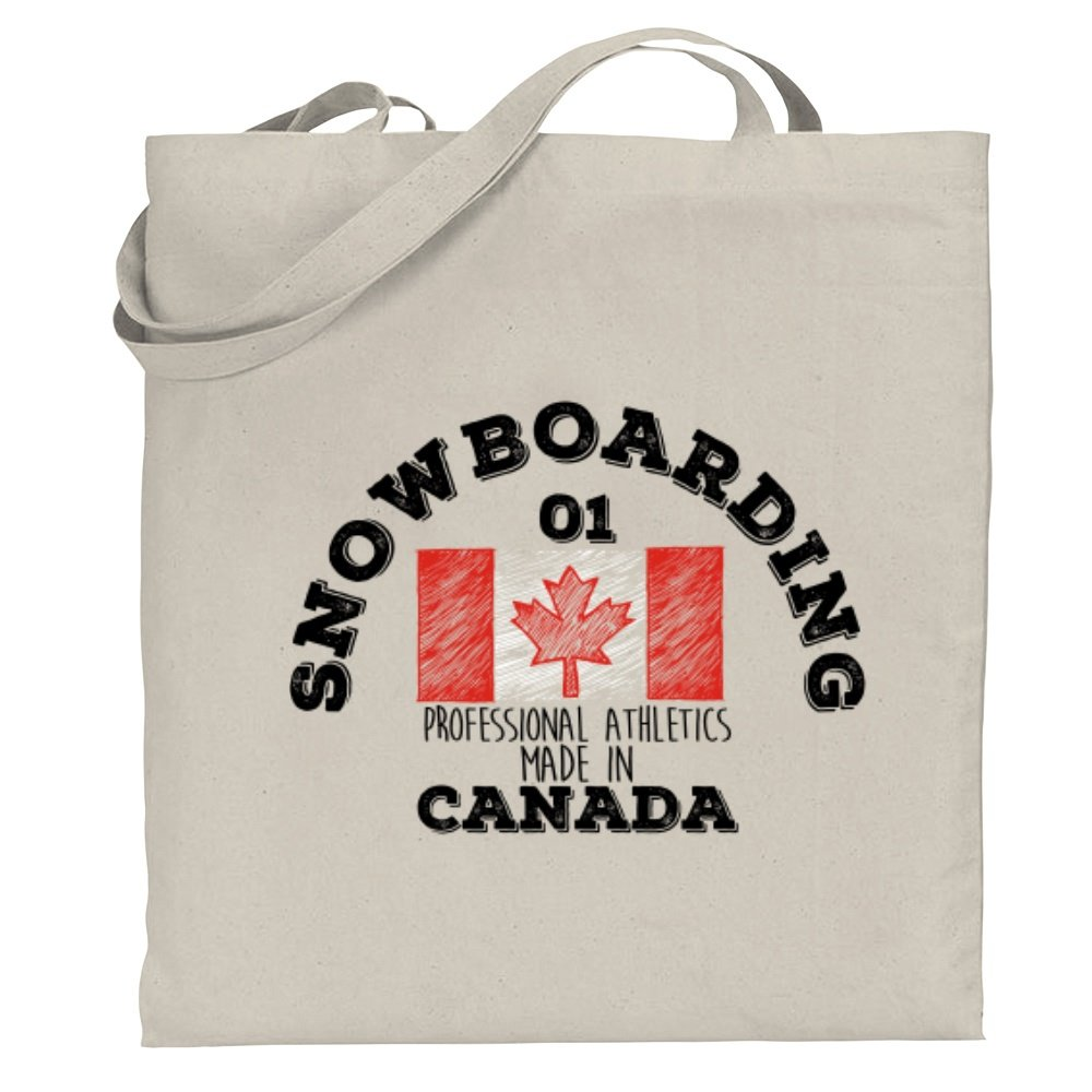 Snowboarding Professional Athletics Made in Canada 2 Canvas Tote Bag Site Athletics S06737071SAC2084300F7000