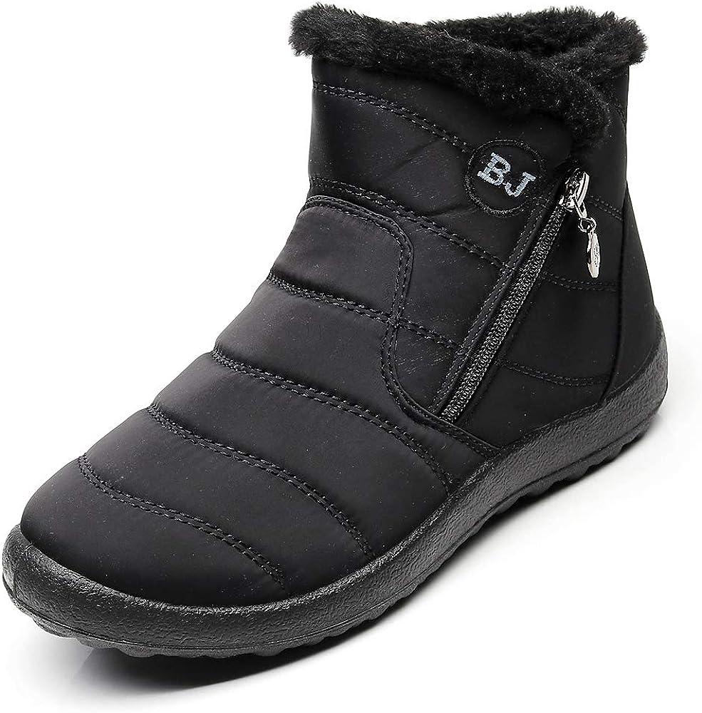 Womens Snow Boots Waterproof Black Size