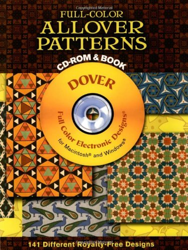 Full-Color Allover Patterns CD-ROM and Book (Paperback)-cover