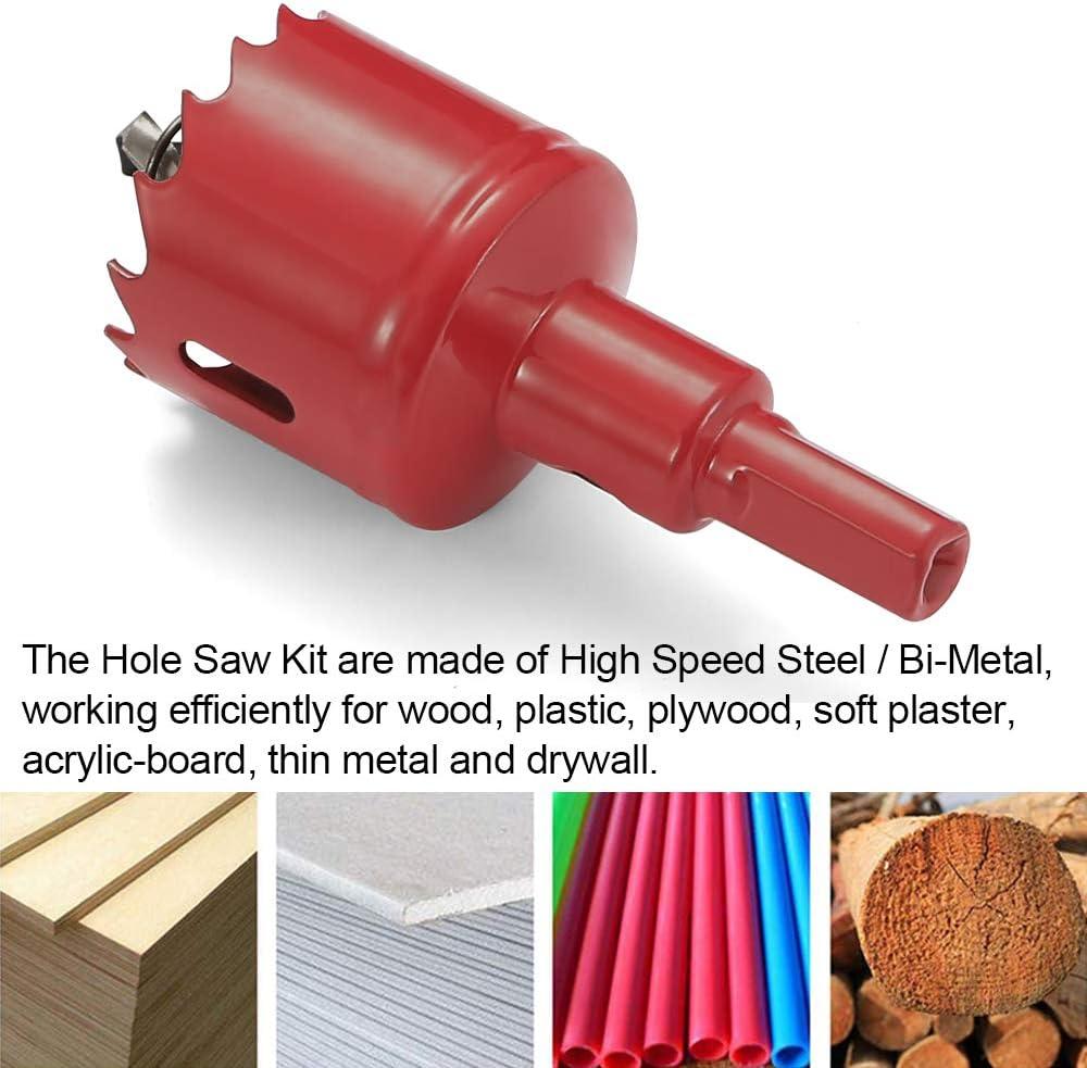 Ruhr-Werkzeug 15 mm, M42 HSS, para metal, madera, aluminio, chapa de hierro, tubo, pl/ástico, cer/ámica Sierra de corona