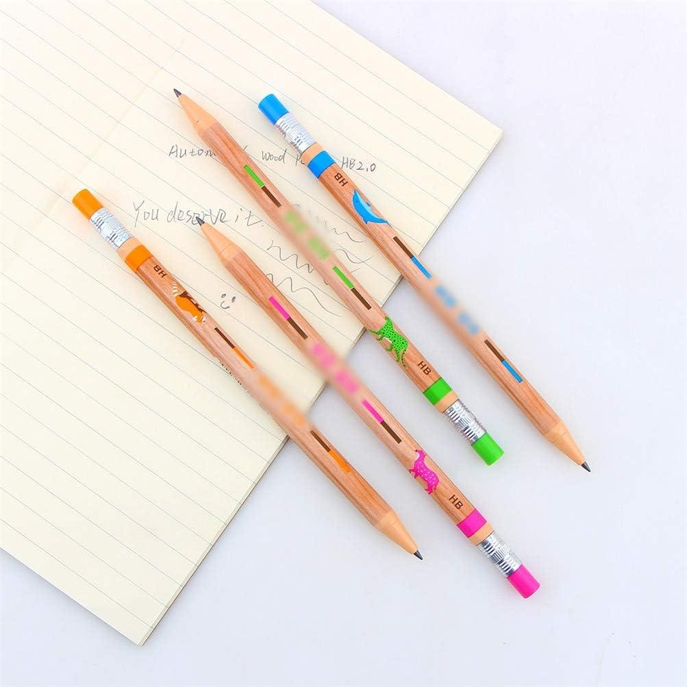 set Art Black Lead Holder Mechanical Pencil 2.0mm School back to school 4pcs ,A,4Pieces
