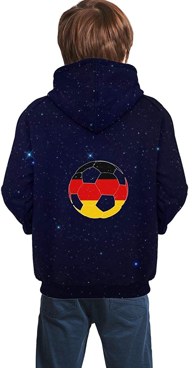 MAOYI/&J6 German Flag Football Soccer Teenager Boys Girls Long Sleeve Hoodie Sweater for Winter Sweatshirt