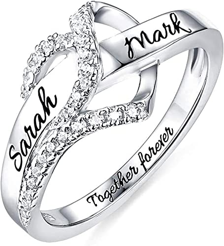 Engraved Band Ring Gift For Lovers Elegant Band Ring Silver Engagement Band Ring Customizable Band Ring Best Quality Silver Ring