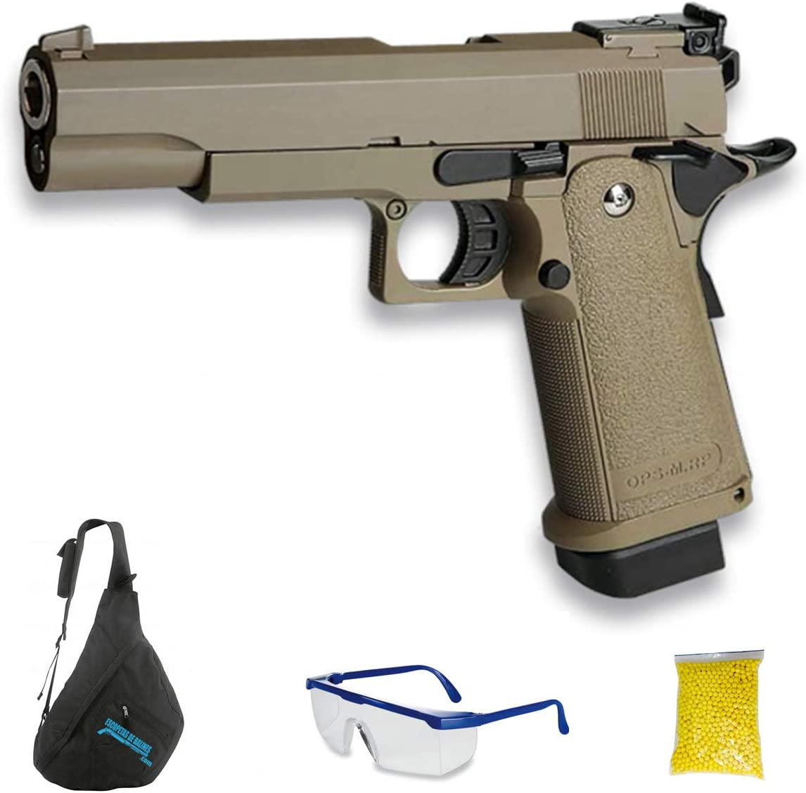 Golden Eagle GE 3304 (6mm blowback- Pistola de Airsoft Calibre 6mm (Arma Aire Suave de Bolas de plástico o PVC). Sistema: Gas. <3,5J