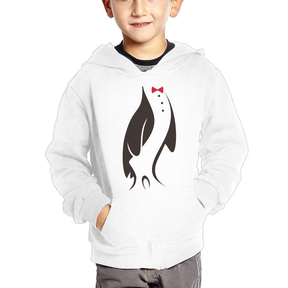 Small Hoodie Penguin Tuxedo Boys Casual Soft Comfortable Sweatshirts Pocket Hoodies