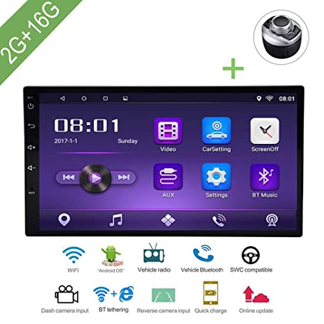 L-Way Android 7.1 Reproductor Multimedia para Coche 2 DIN AndCar DVD para VW/