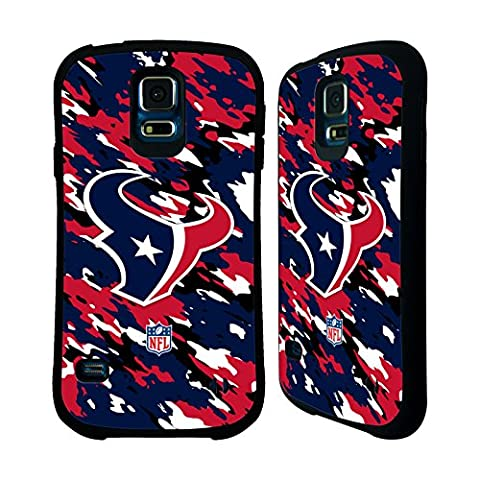 Official NFL Camou Houston Texans Logo Hybrid Case for Samsung Galaxy S5 / S5 Neo (Houston Texans Samsung S5 Case)