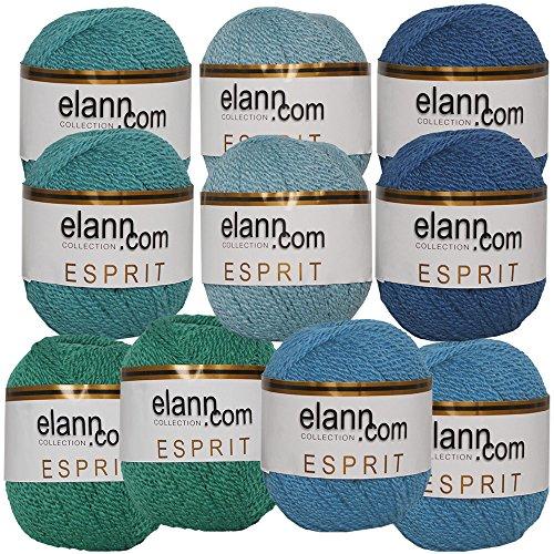 Yarn Shades (elann Esprit Yarn | 10 Ball Bag | Cool Shades Assortment - 993)