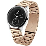 Balerion-Adjustable Solid Stainless Steel Band with Durable Folding Clasp for Withings steel HR 40mm verison--Steel Rose Gold 40MM