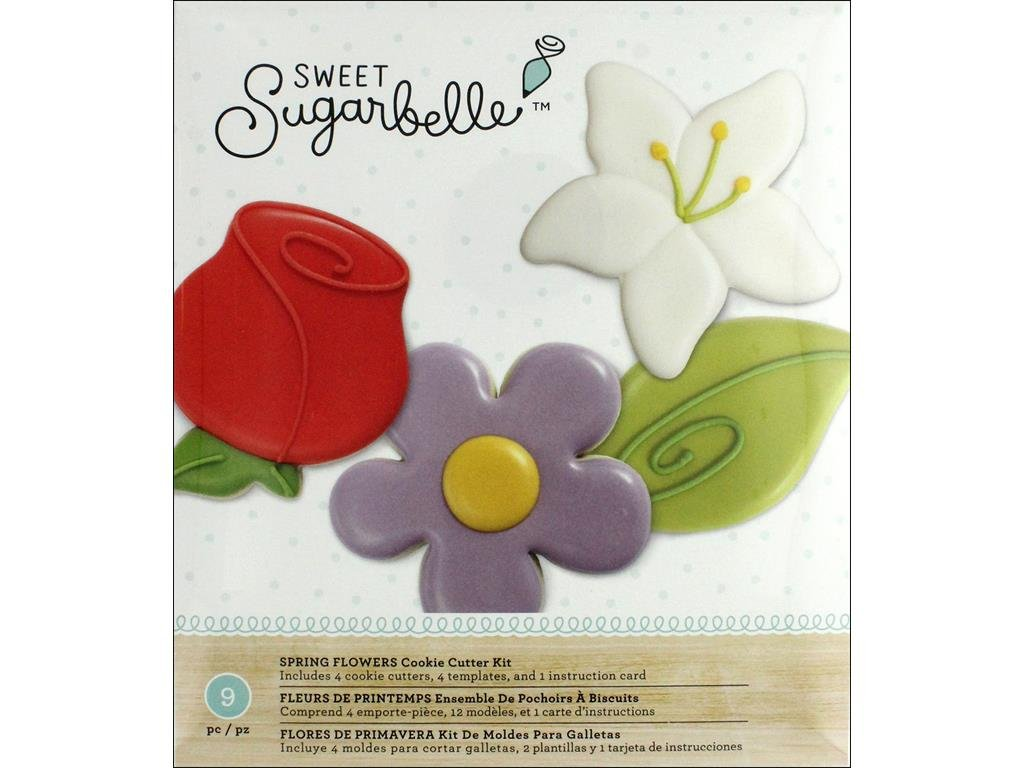 Amazon.com: American Crafts Amc Sugarbelle Spring Flower Cookie Cutter Kit: Kitchen & Dining