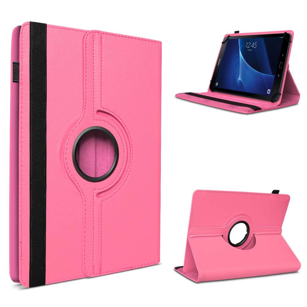 Tablet Schutzhülle passend für Samsung Galaxy Tab A6 7.0 hochwertiges Kunstleder Hülle Tasche Standfunktion 360° Drehbar 9 Cover Case Universal, Farben:Lila UC-Express
