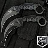 New 2pc TACTICAL COMBAT KARAMBIT Eco'Gift LIMITED EDITION Knife with Sharp Blade Survival