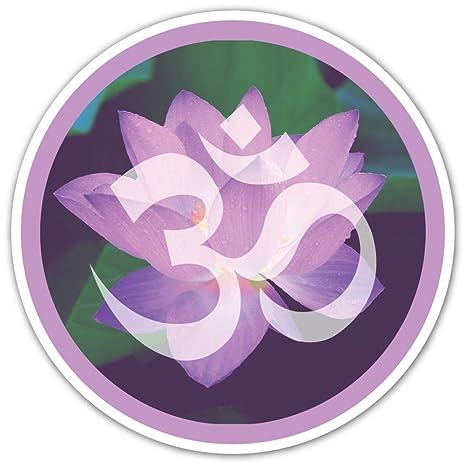 Amazon.com: (Paquete de 3 pegatinas) flor de loto Om Yoga ...