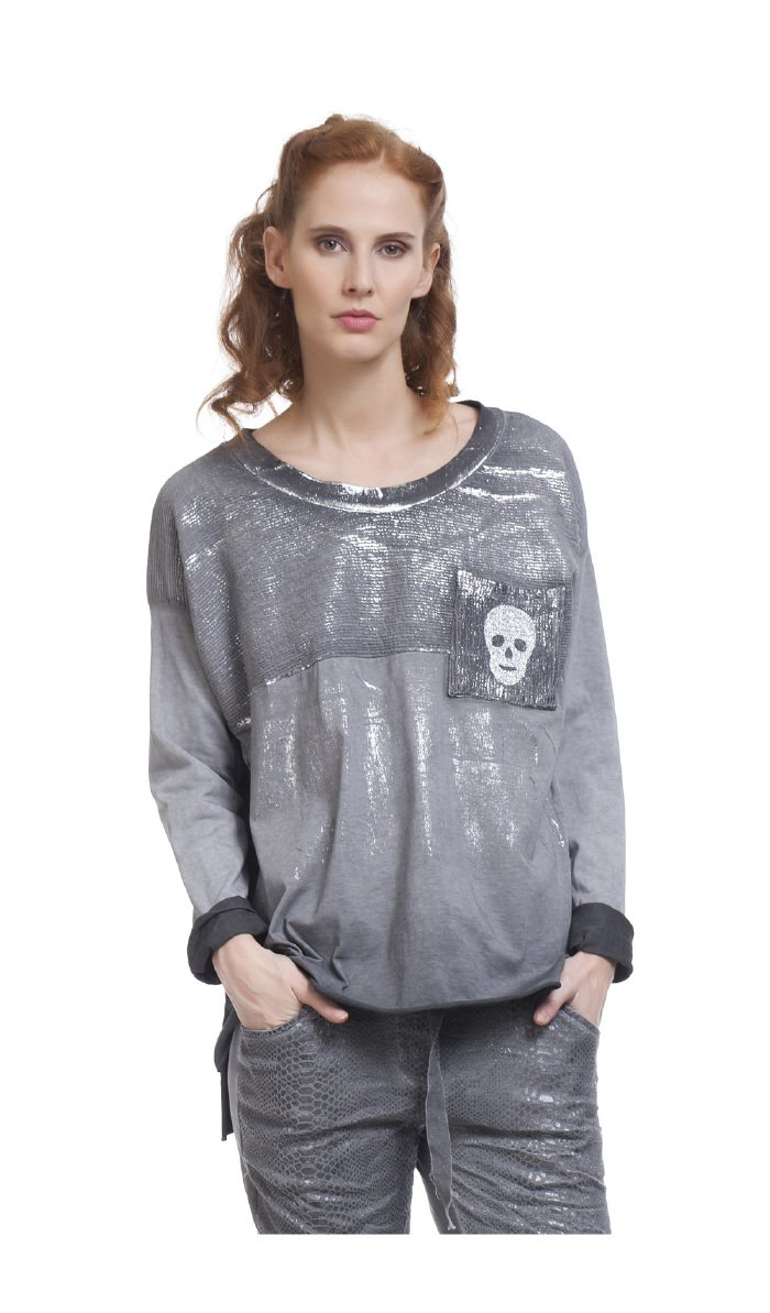 TANTRA Long Sleeve Top Namur - Women - Onesize - Grey