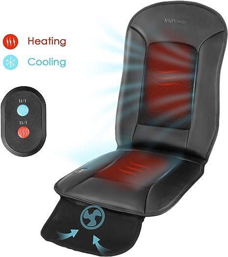 MVPOWER Coussin Chauffant Voiture 12V, Universel Housse de Siège Chaud en Hiver pour Voiture Auto et Chaise de Bureau, avec Fonction de Chauffage et
