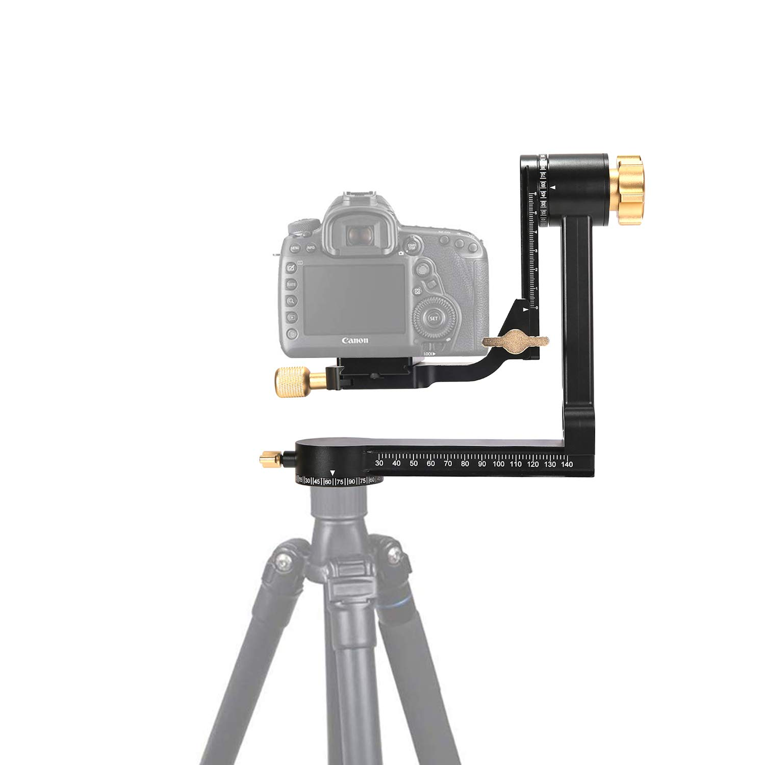 Professional Aluminum Alloy 360 Degree Panoramic Gimbal Tripod Head with Arca-Swiss Standard 1/4'' Quick Release Plate Compatible with Digital SLR Cameras up to 33 lbs /15 kgs by INSEESI
