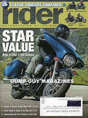 RIDER Magazine (June 2013) STAR VALUE: New V Star 1300 Deluxe