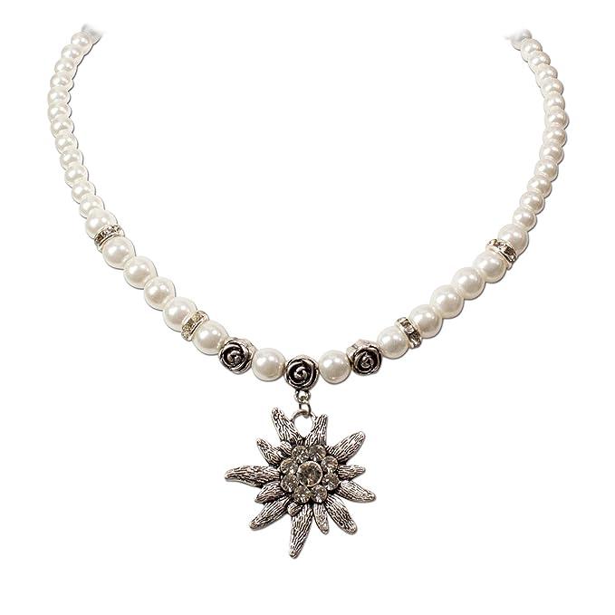 Trachten-Paradies - Cadena de perlas con colgantes de ...