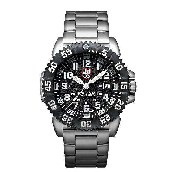Luminox Navy SEAL Steel Colormark XS.3152.NV Reloj de pulsera Cuarzo Hombre correa de Acero inoxidable Plateado: Amazon.es: Relojes