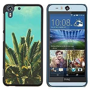 Stuss Case / Funda Carcasa protectora - Tropiques vignette bleue Nature - HTC Desire Eye M910x