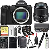 Fujifilm GFX 50S Medium Format Digital Camera Body with 45mm f/2.8 Lens + 128GB Card + Backpack + Battery & Charger + Tripod + Filters + Kit