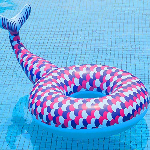 Giant Inflatable Mermaid Swim Circle, Pool Float for Party, Happy Time in Summer (Color : Purple) by Cass (Image #1)
