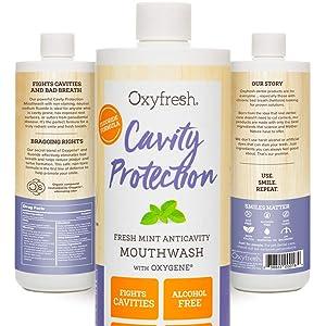 Oxyfresh Fluoride Fresh Mint Mouthwash: Cavity Fighting Formula, Fresh Breath Solution & Healthy Gums