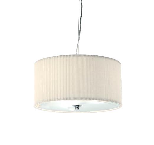 Dar Zaragoza 3-Light 40 cm lámpara de techo con pantalla ...