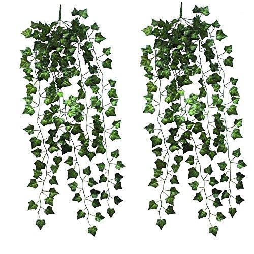 Natural Home Hängende Deko Blumen 90cm Efeu Efeuranke Künstliche Pflanze Neu (2er Pack)