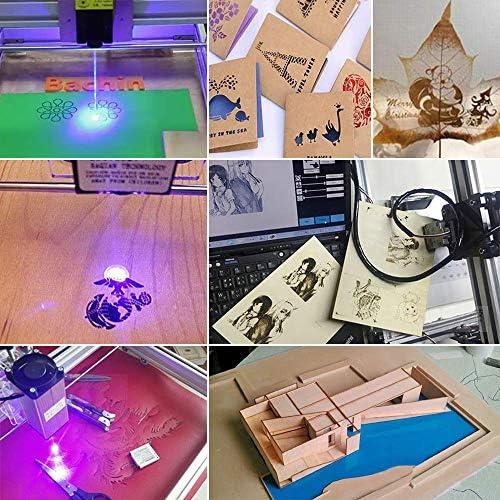 ETE ETMATE 50x40cm Kit Macchina per Incisione Laser CNC 2500mv Stampante Desktop Fai da te Logo Stampante per Marcatura Foto Macchina da Taglio per Incisione in Legno da 12V USB