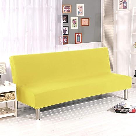 YQ WHJB Poliester Sin Brazos La Cubierta del sofá,Stretch Elástico Funda de sofá,Antideslizante Color sólido Protector de Muebles Sofá ...