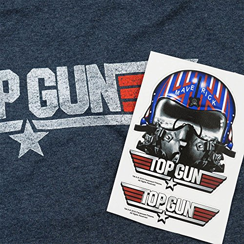 Popfunk-Top-Gun-Distressed-Logo-T-Shirt-and-Exlcusive-Stickers